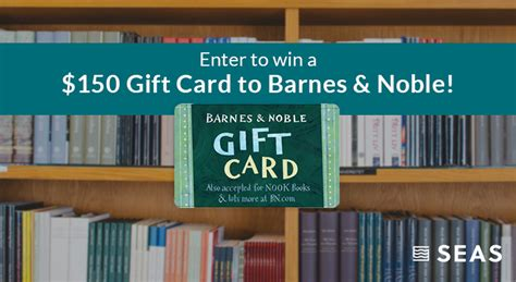 Barnes And Noble Gift Card Check - october giveaway win a 150 barnes noble gift card seas