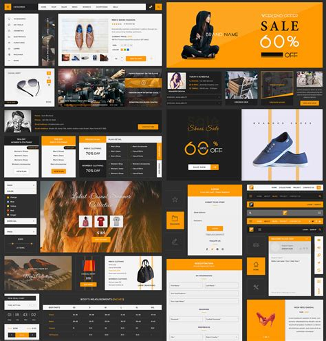 ecommerce psd templates free ui kits psd at downloadfreepsd