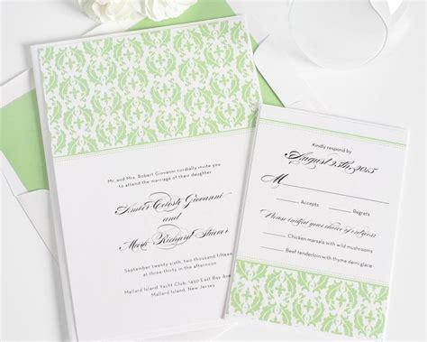 Damask Print Wedding Invitations by Classic Damask Wedding Invitations Wedding Invitations