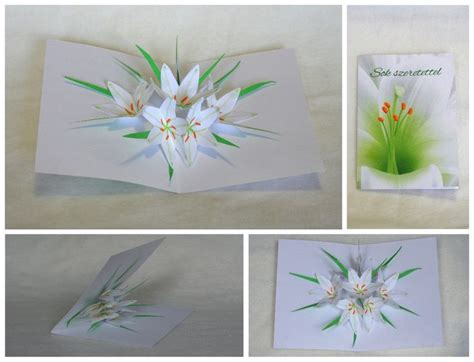 pop up cards templates flowers flower pop up cards templates www imgkid the image