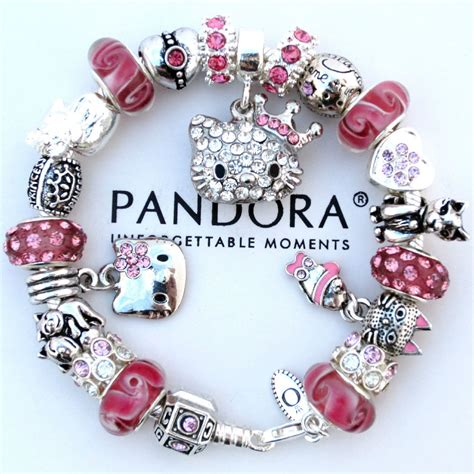 hello and charms authentic pandora bracelet pink hello