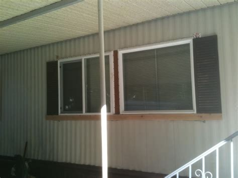 thermopane vinyl windows tin sided mobile home diy