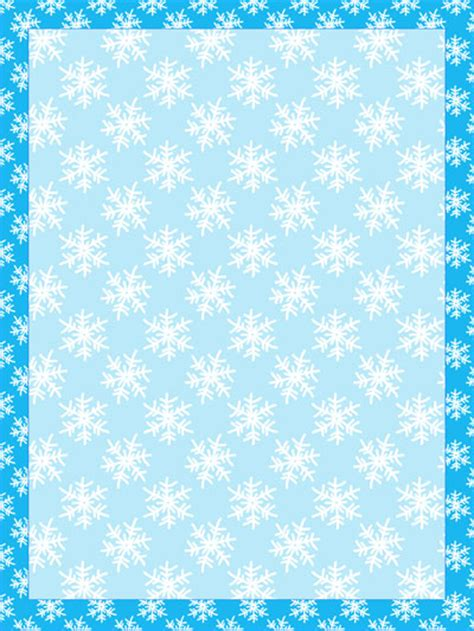Snowflake Stationery Template Printable Treats Com Snowflake Stationery Template
