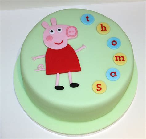 peppa pig template for cake 500px