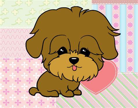 imagenes de animales kawaii para colorear dibujo de perrito kawaii pintado por en dibujos net el d 237 a