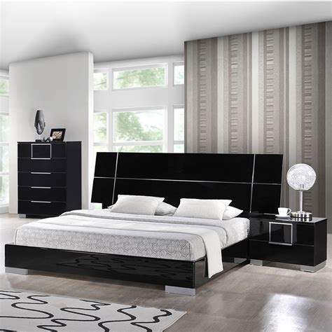 hailey bedroom set in high gloss black dcg stores
