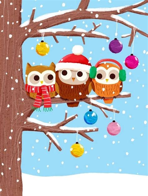 images of christmas owls christmas owls owls pinterest christmas and owl