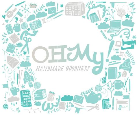 Oh My Handmade - from inspiration to logo oh my branding oh my handmade