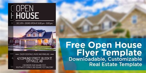 free open house post card templates free open house flyer template downloadable