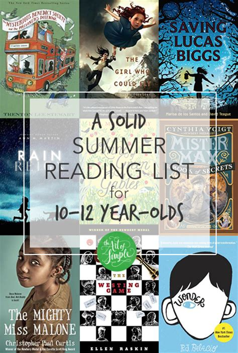 picture books for 10 year olds summer reading list for a 10 year