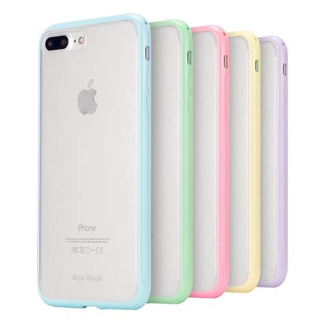 ace teah 5 pack iphone 7 plus cover anti scratch matte back cover pc with protective