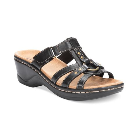 black womens sandals clarks womens shoes sandals in black lyst