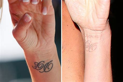 victoria beckham wrist tattoo beckham reveals faded wrist tribute