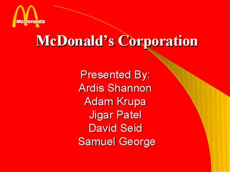 mcdonald s corporation present docslide