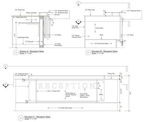 Image Result For Reception Desk Section Detail Drawing Reception Desk Section