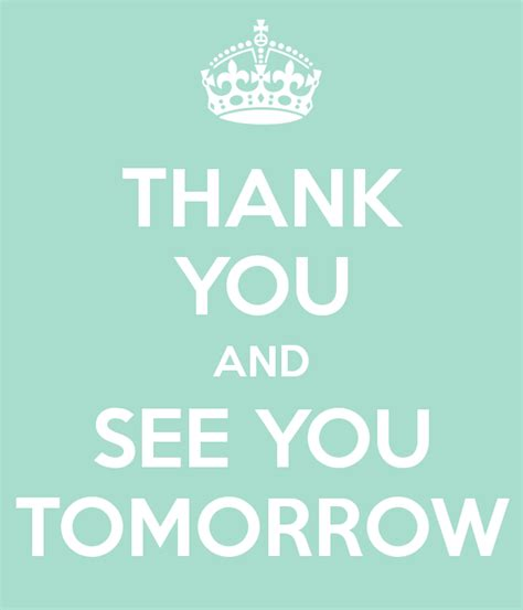 see you tomorrow i you books thank you and see you tomorrow poster noble keep calm