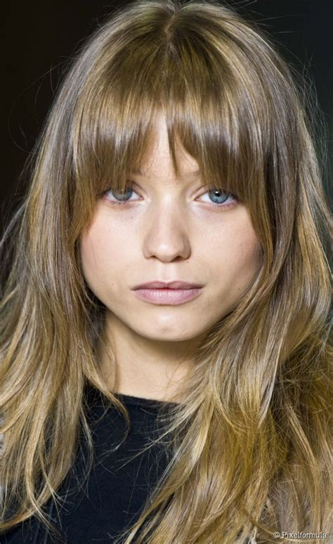 hairstyles for school with front bangs long rounded bangs pinteres