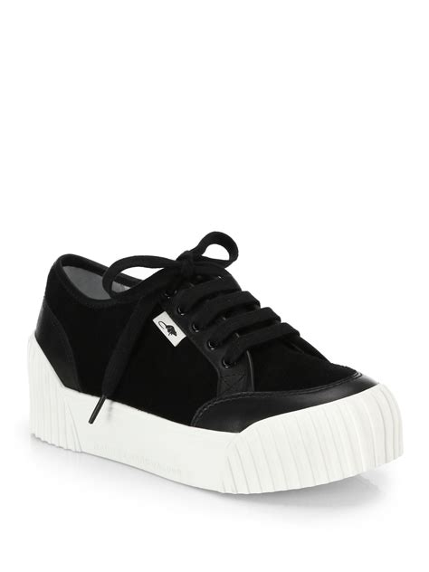 leather platform sneakers marc by marc suede leather platform sneakers in