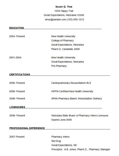 templates for resume free download microsoft word resume template 49 free sles