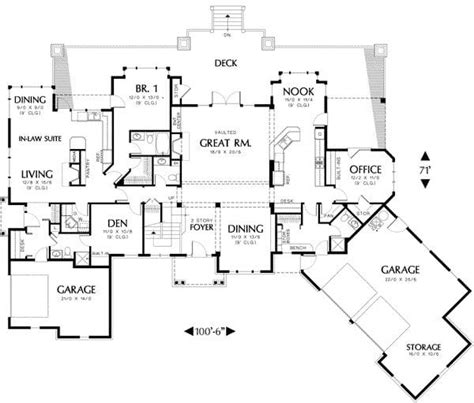 floor plans with inlaw apartment best of ranch house plans with inlaw apartment home