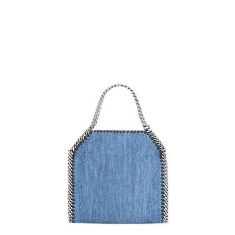 Stella Mccartney Felt And Plastic Bag by Falabella Denim Embroidered Mini Bag Stella Mccartney