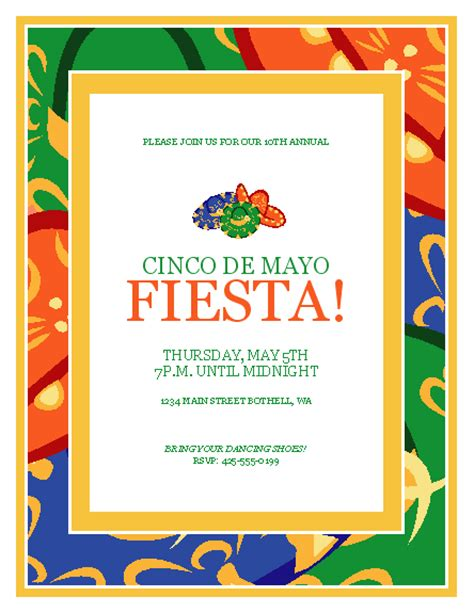 Download Cinco De Mayo Party Flyer Free Flyer Templates For Microsoft Office Cinco De Mayo Template