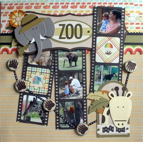 100 best images about zoo scrapbook layouts on
