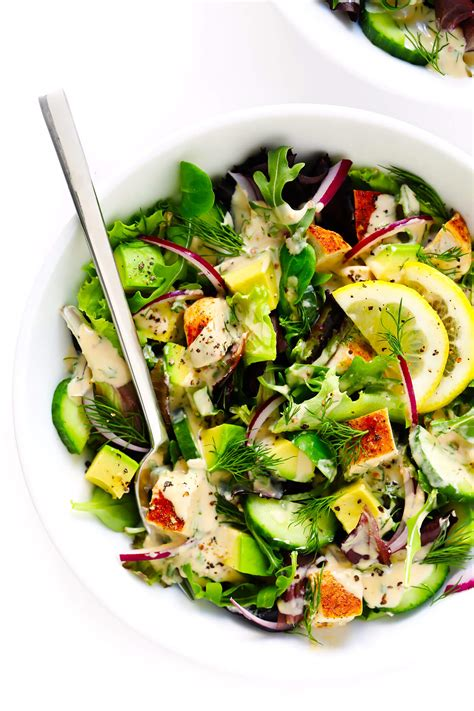 tahini ranch avocado chicken salad gimme  oven
