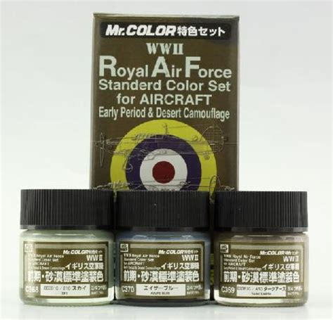 Mr Color 23 Green 2 Aircraft Cat Gundam Model Kit Paint mr hobby gsi cs683 wwii royal air forc standerd color set for aircraft early period and desert