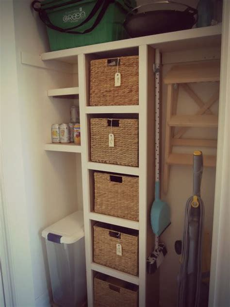 Baskets For Closet Organization by Closet Organization Coat Closet Makeovers And Basket