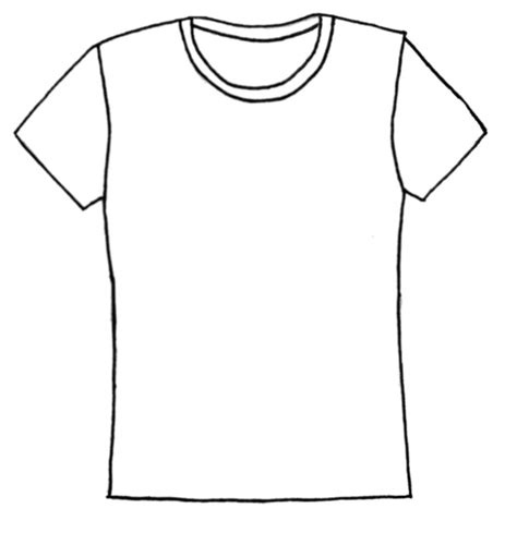 Drawing T Shirt Designs by Plain T Shirt Template Clipart Best