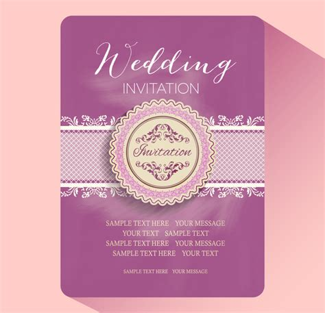 marriage invitation card free template wedding invitation card templates free vector in adobe