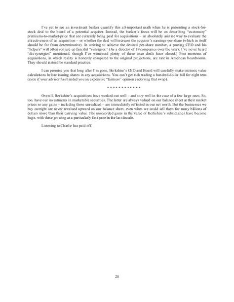 berkshire hathaway annual shareholder letter 2014