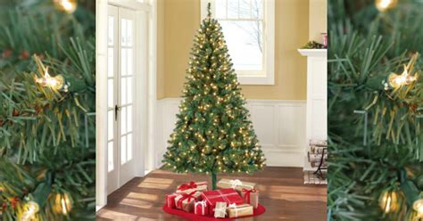 real christmas tree cost walmart walmart pre lit 6 5 pine artificial tree 39 free ship
