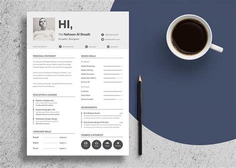 design design unique resume and free unique resume design cv template in psd ai files