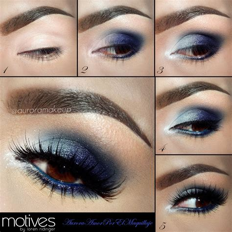 eyeshadow tutorial dark eye makeup dark blue dress