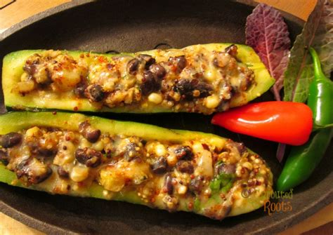 stuffed zucchini boats grilled grilled stuffed zucchini boats sprouted roots your