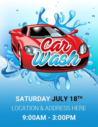 Ms Word Car Show Flyer Template Word Excel Templates Car Wash Poster Template