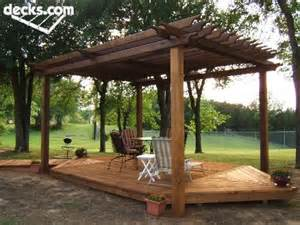 Floating Deck With Pergola by Trex Deck Over Your Concrete Patio With Pergola Over It