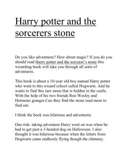 Harry Potter and the Sorcerer`s Stone Essay Test