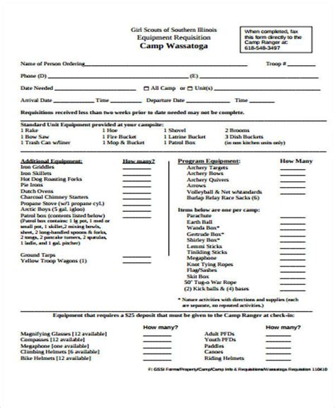 equipment requisition form template 40 sle requisition forms in pdf sle templates