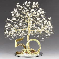 Gold 50th Anniversary Tree / Cake Topper   FindGift.com