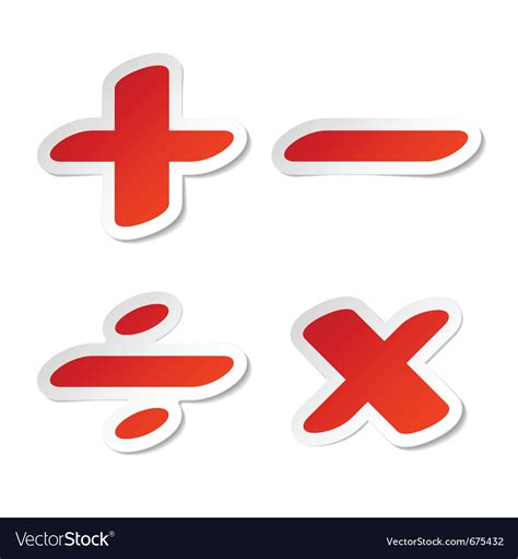 3d Sticker Vector by Math Symbols Stickers Royalty Free Vector Image