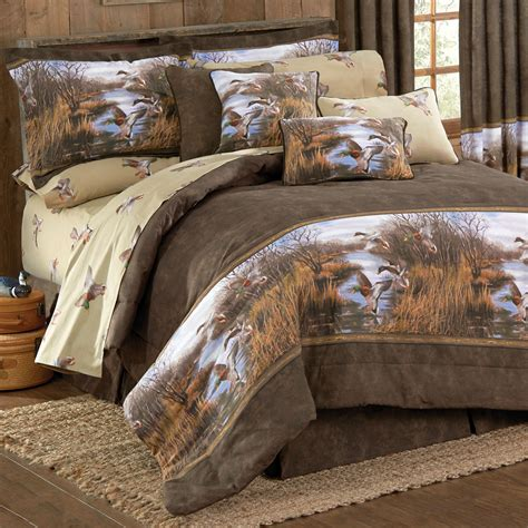 hunting bedding camouflage comforter sets full size duck approach