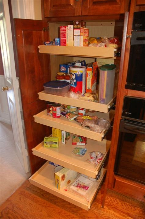 Kitchen Cabinet Slide Out Shelf by The Pantry In Your Fishers Kitchen Home Needs Shelfgenie