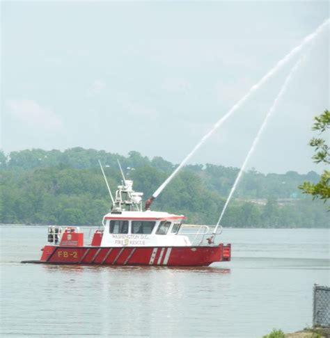 fireboat john glenn d c fireboat john glenn jr demonstrates a water cannon