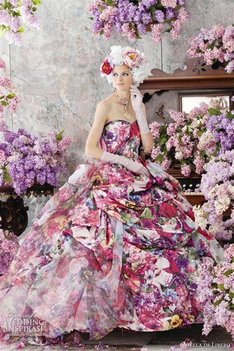Colourful Wedding Gowns by Stella De Libero Color Wedding Dresses Wedding Inspirasi
