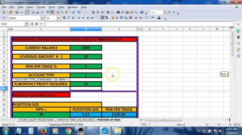 Money Management Spreadsheet by Money Management Spreadsheet