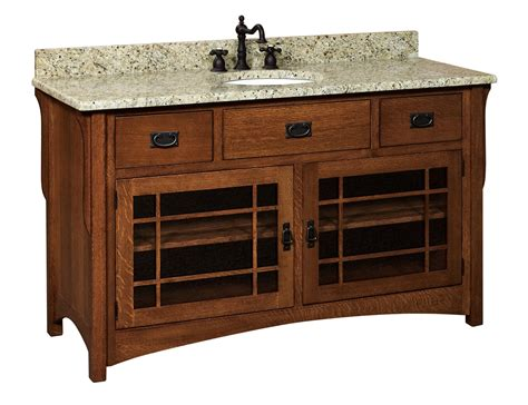amish bathroom vanities amish 60 quot lancaster mission single bathroom vanity cabinet