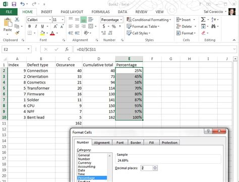 how to plot pareto chart in excel 2013 understanding